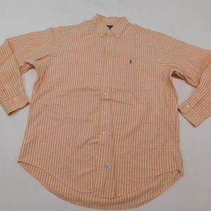 Ralph Lauren XL Orange Button Down Shirt  Cotton